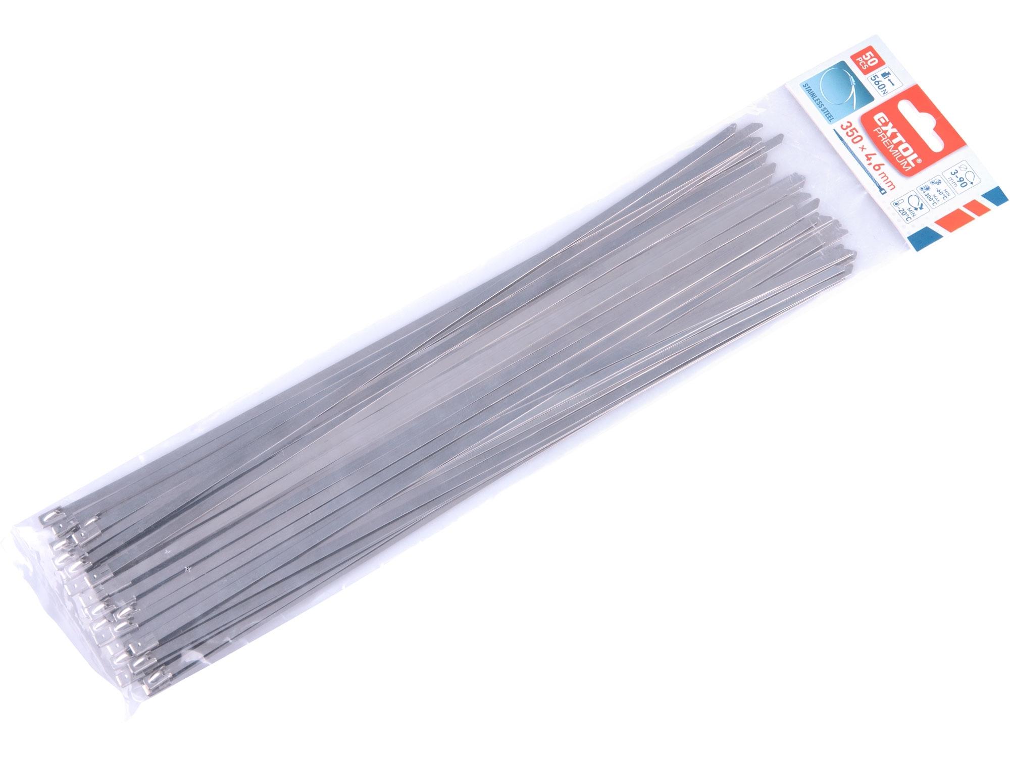 pásky stahovací NEREZ, 350x4,6mm, 50ks