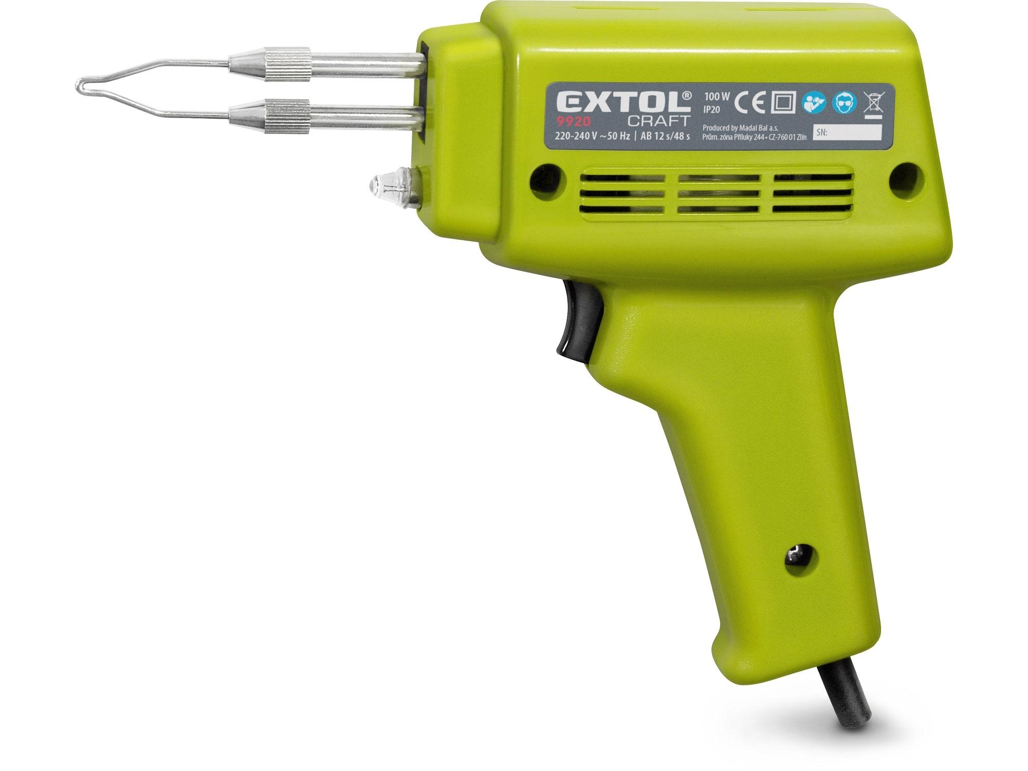 pistole pájecí transformátorová, 100W, EXTOL CRAFT 9920