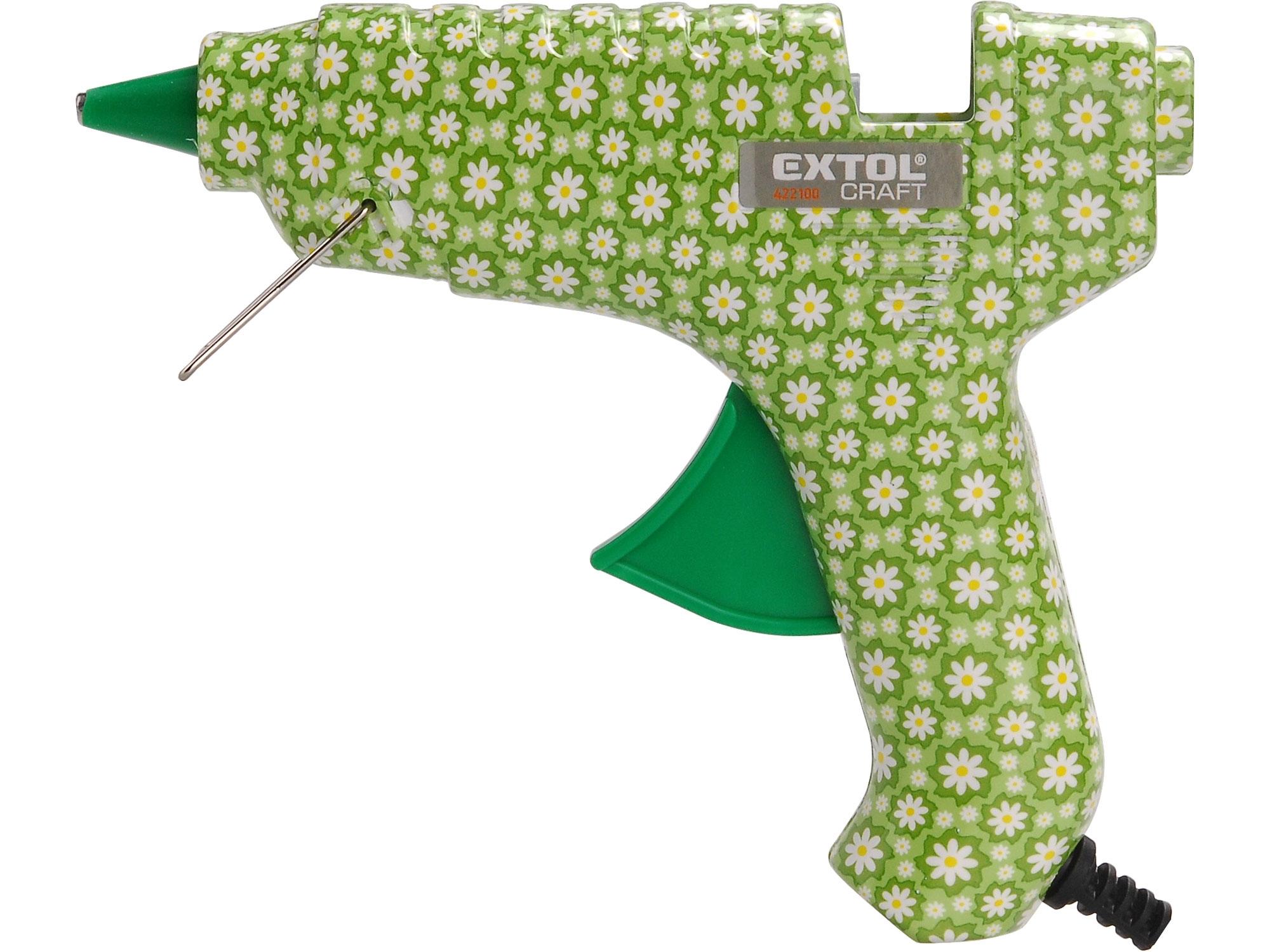 pistole tavná lepící, květinová, 40W, EXTOL CRAFT, 422100 422100