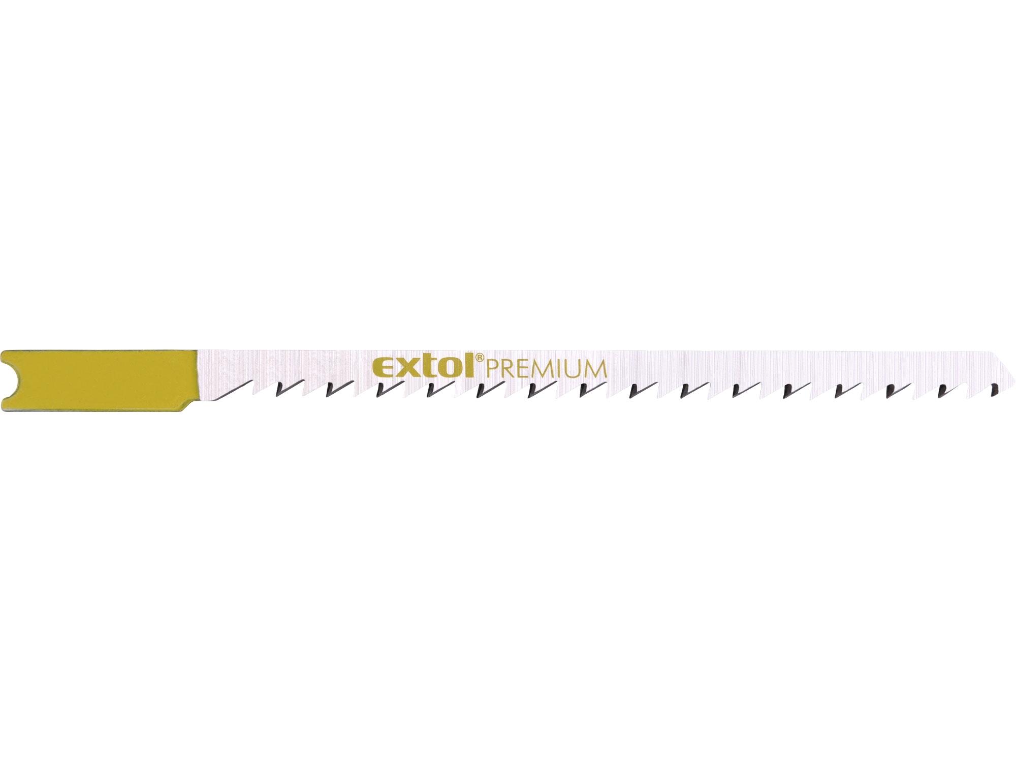 plátky do přímočaré pily 5ks, 75x2,5mm, HCS, EXTOL PREMIUM 8805503