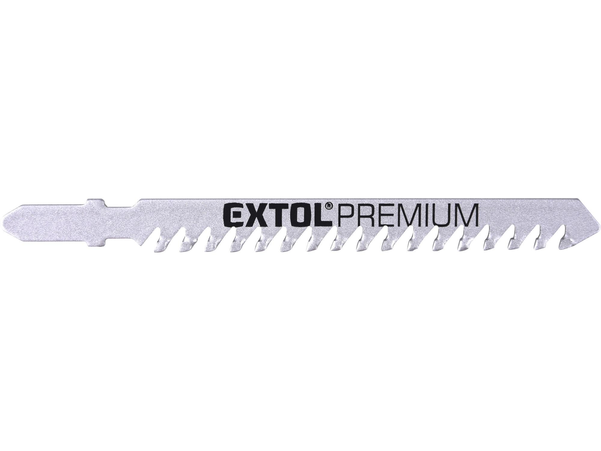 plátky do přímočaré pily s SK zuby 3ks, 100x1,5mm, EXTOL PREMIUM 8805300