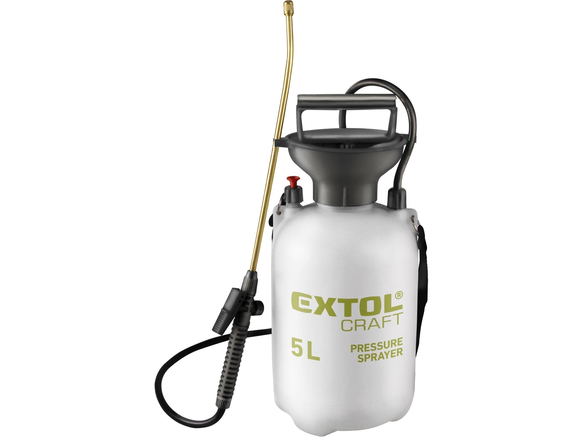 postřikovač tlakový zahradní, 5l, MOSAZ, EXTOL CRAFT 92602