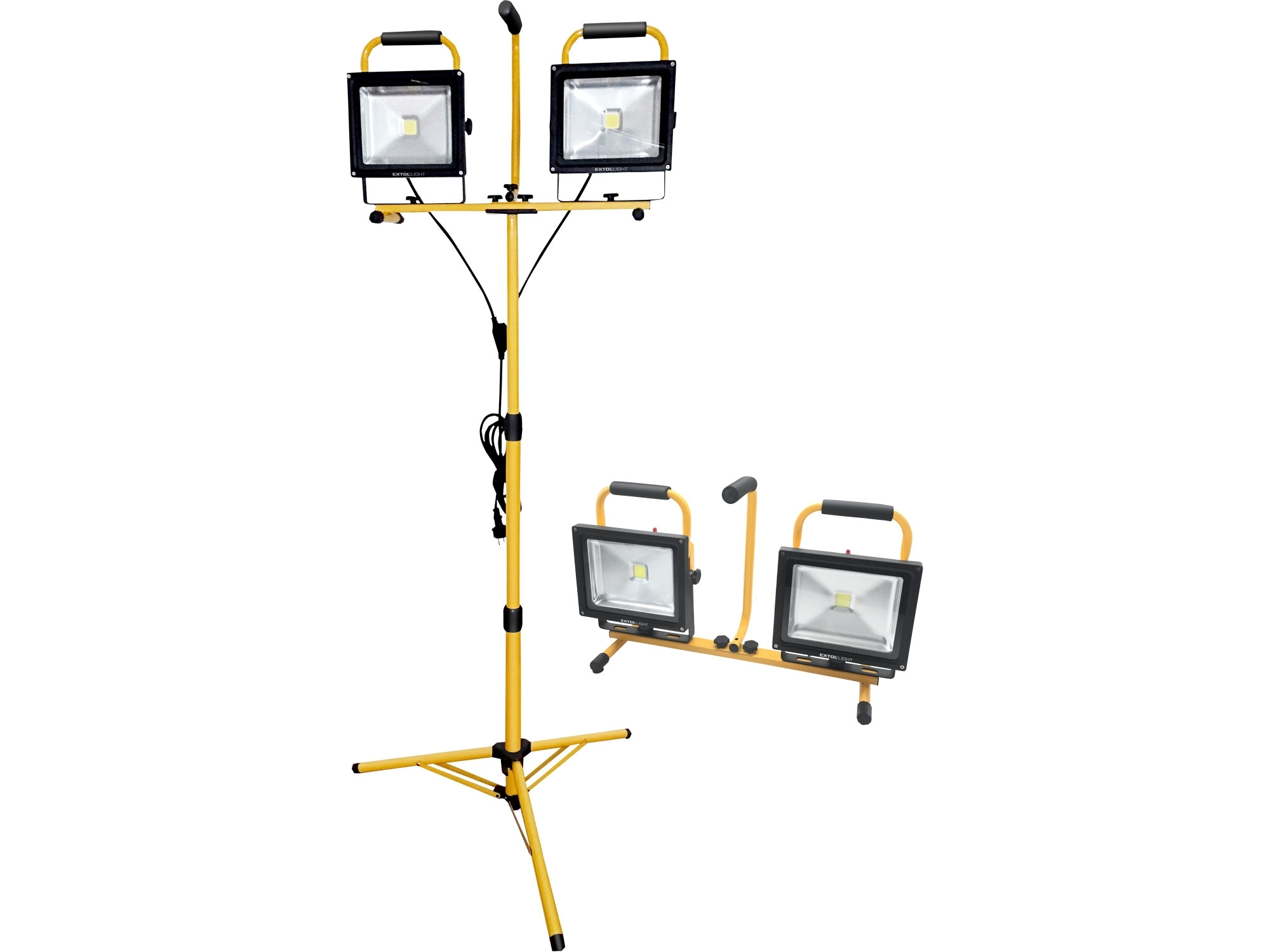 reflektor LED, 2x2400lm, se stojanem 168cm, EXTOL LIGHT 43283