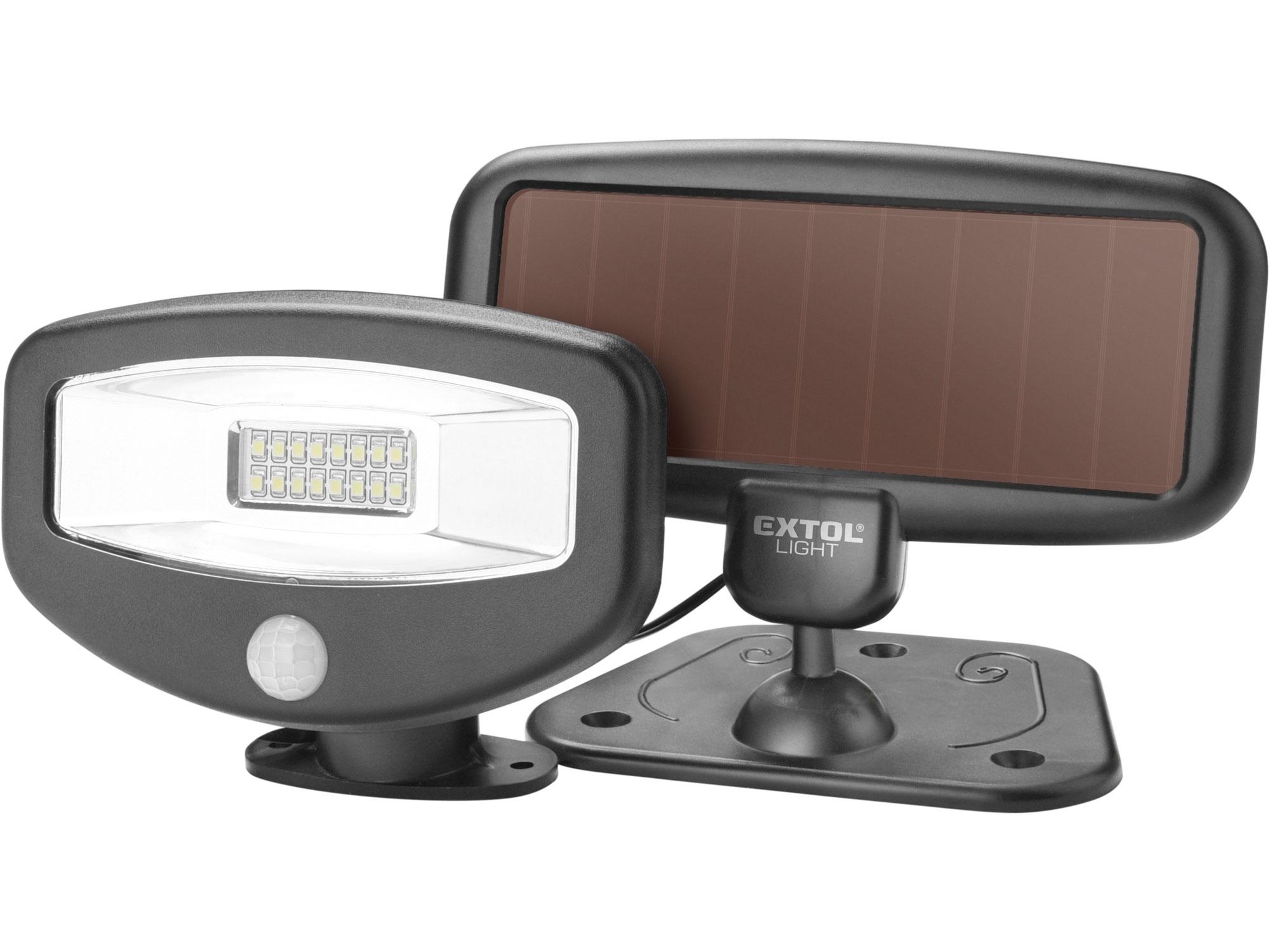 reflektor LED s pohybovým čidlem, 100lm, solární nabíjení, EXTOL LIGHT 43270