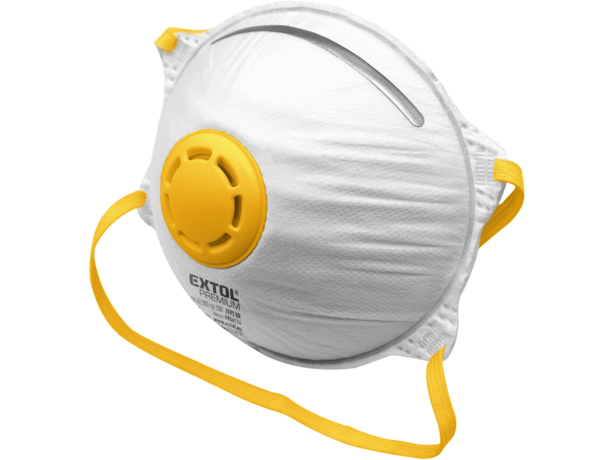 respirátory s výdechovým ventilem FFP2, sada 5ks, tvarované, FFP2