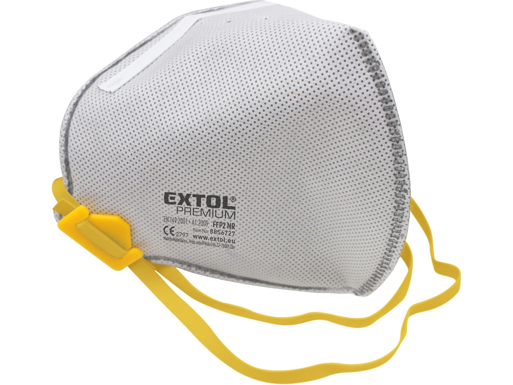 respirátory sada 3ks s aktivním uhlíkovým filtrem, třída FFP2 NR, skládací