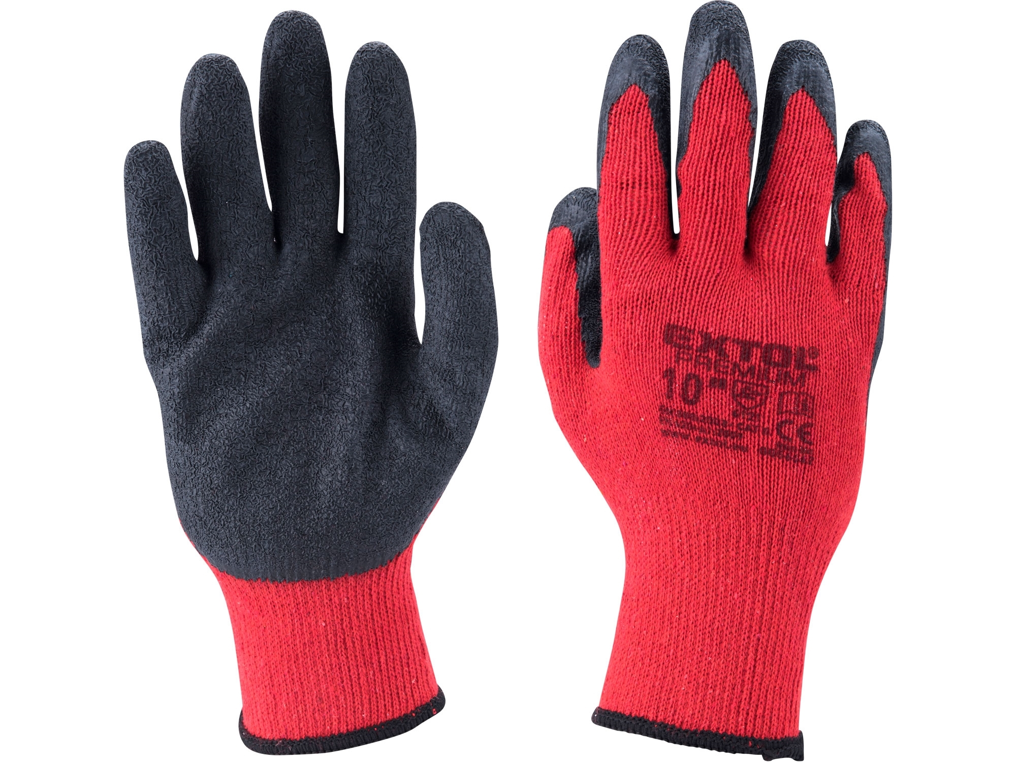 """rukavice bavlněné polomáčené v latexu, velikost 8"""""""