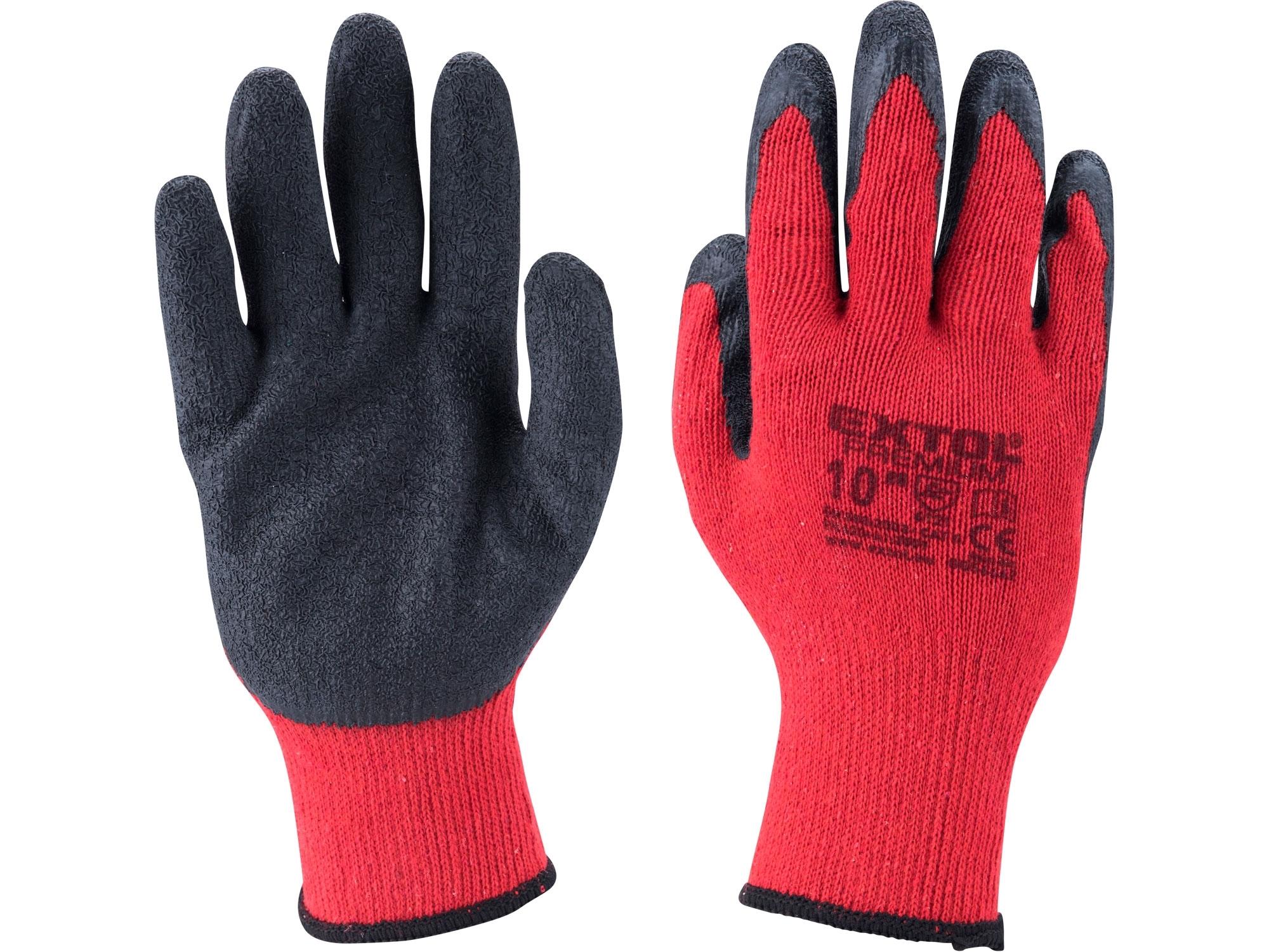 """rukavice bavlněné polomáčené v LATEXU, velikost 9"""", EXTOL PREMIUM 8856641"""