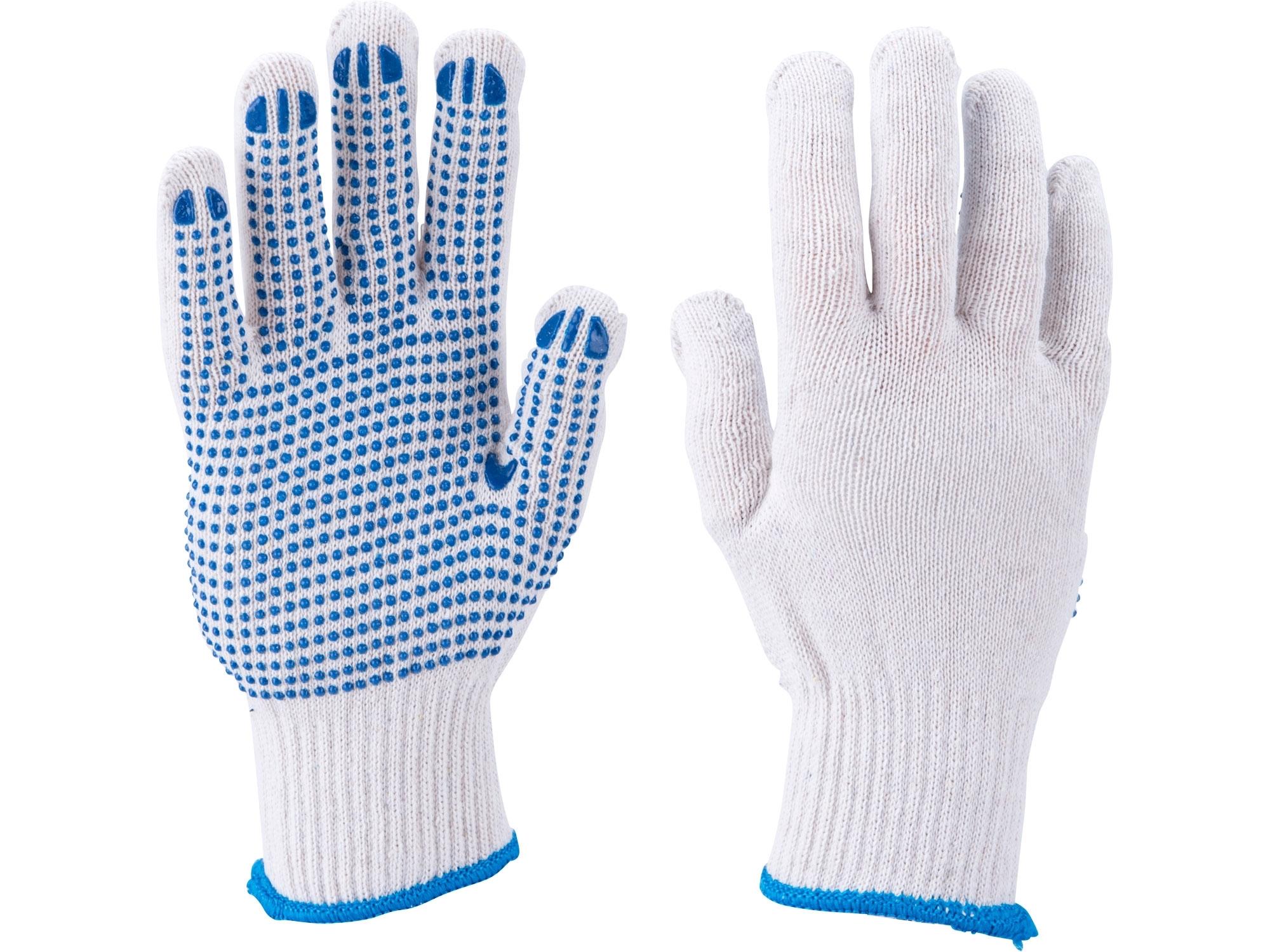 """rukavice bavlněné s PVC terčíky na dlani, velikost 10"""", EXTOL CRAFT 99708"""