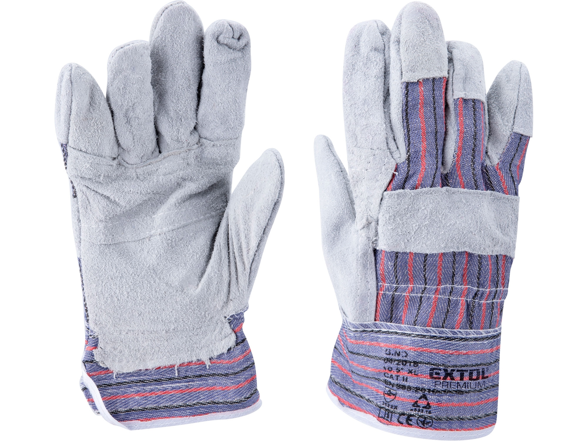"""rukavice kožené s vyztuženou dlaní, velikost 10"""" 9965"""