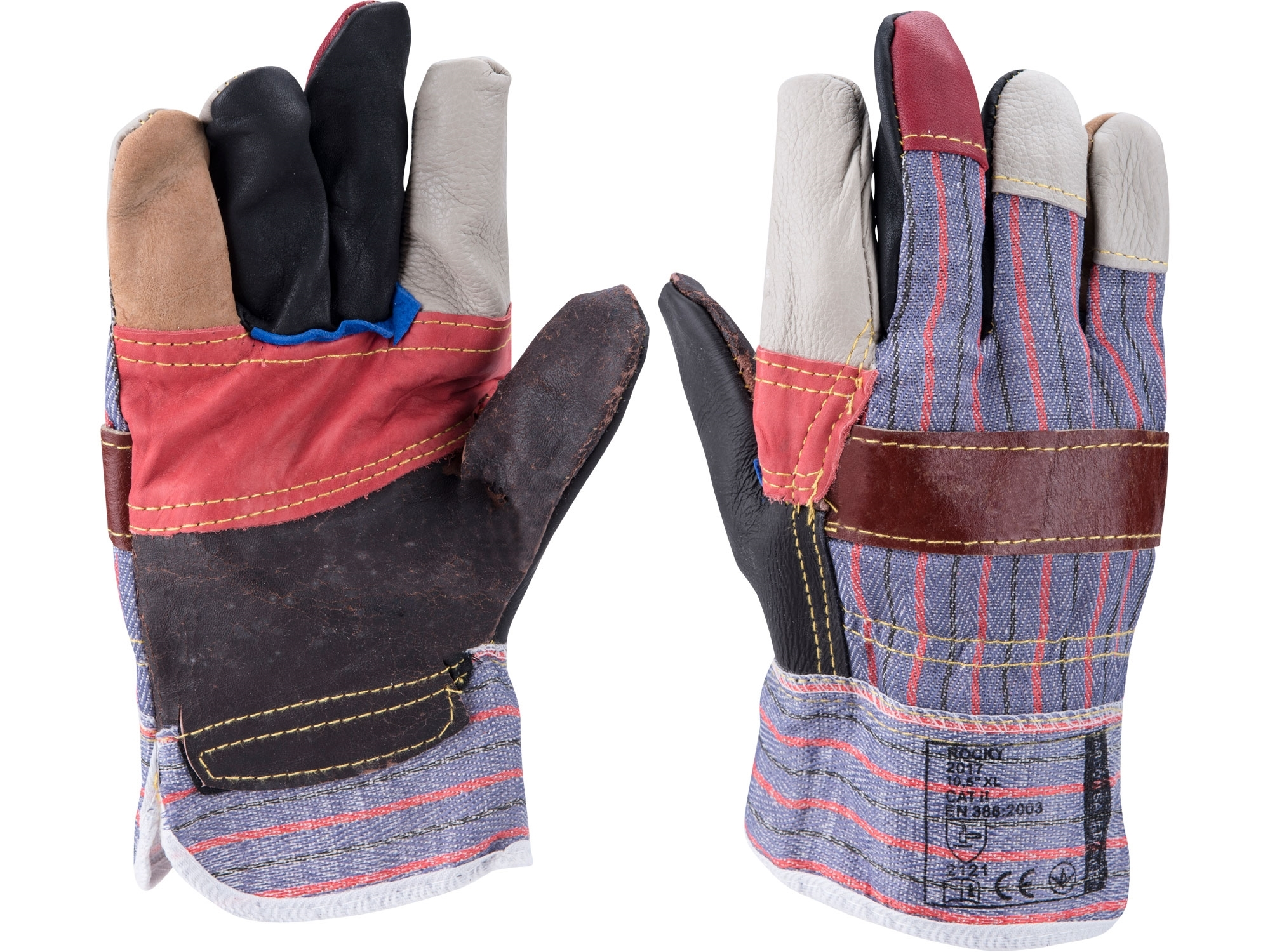 """rukavice kožené s vyztuženou dlaní, velikost 10"""""""