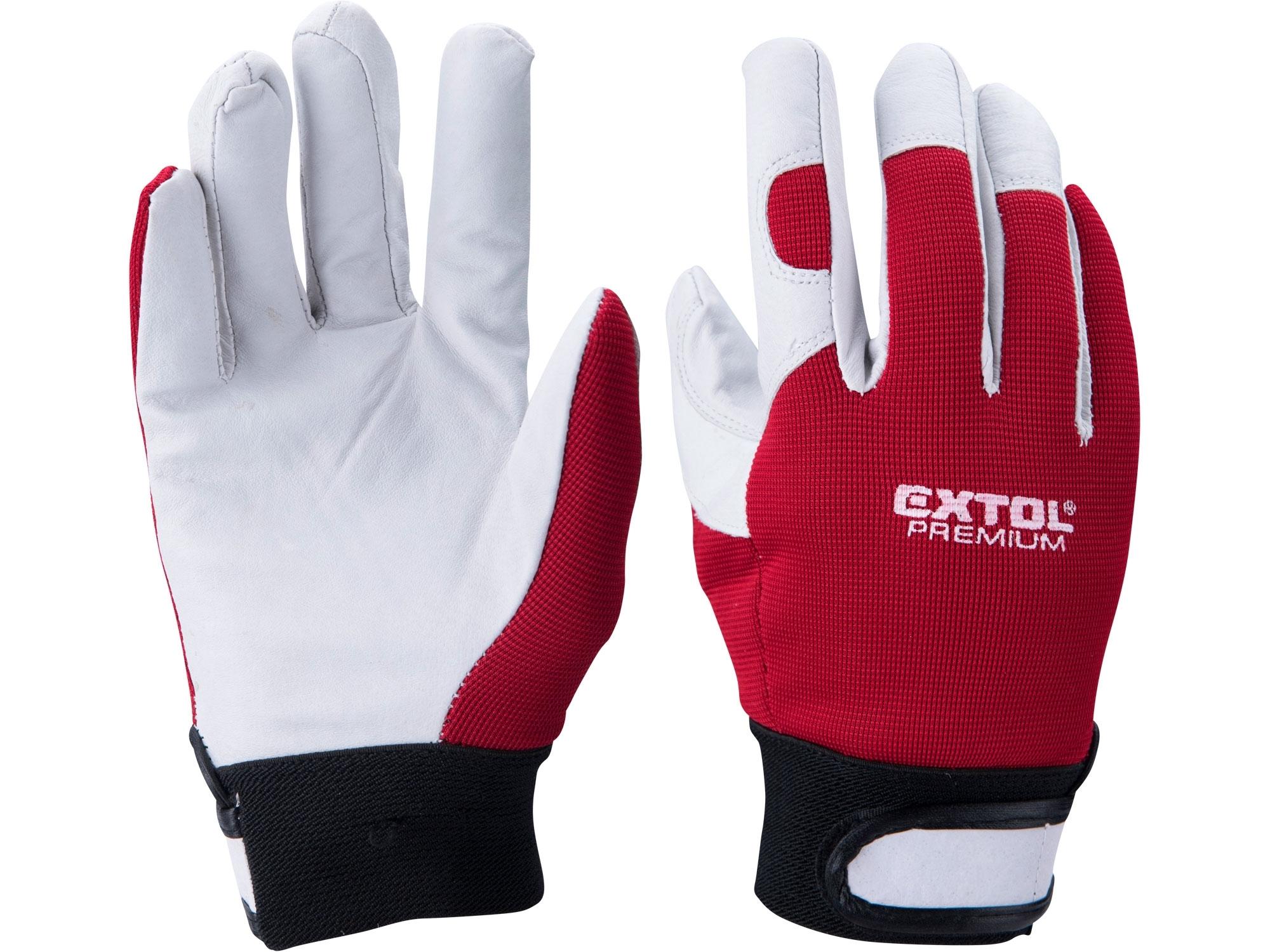 """rukavice kožené, velikost 10"""""""