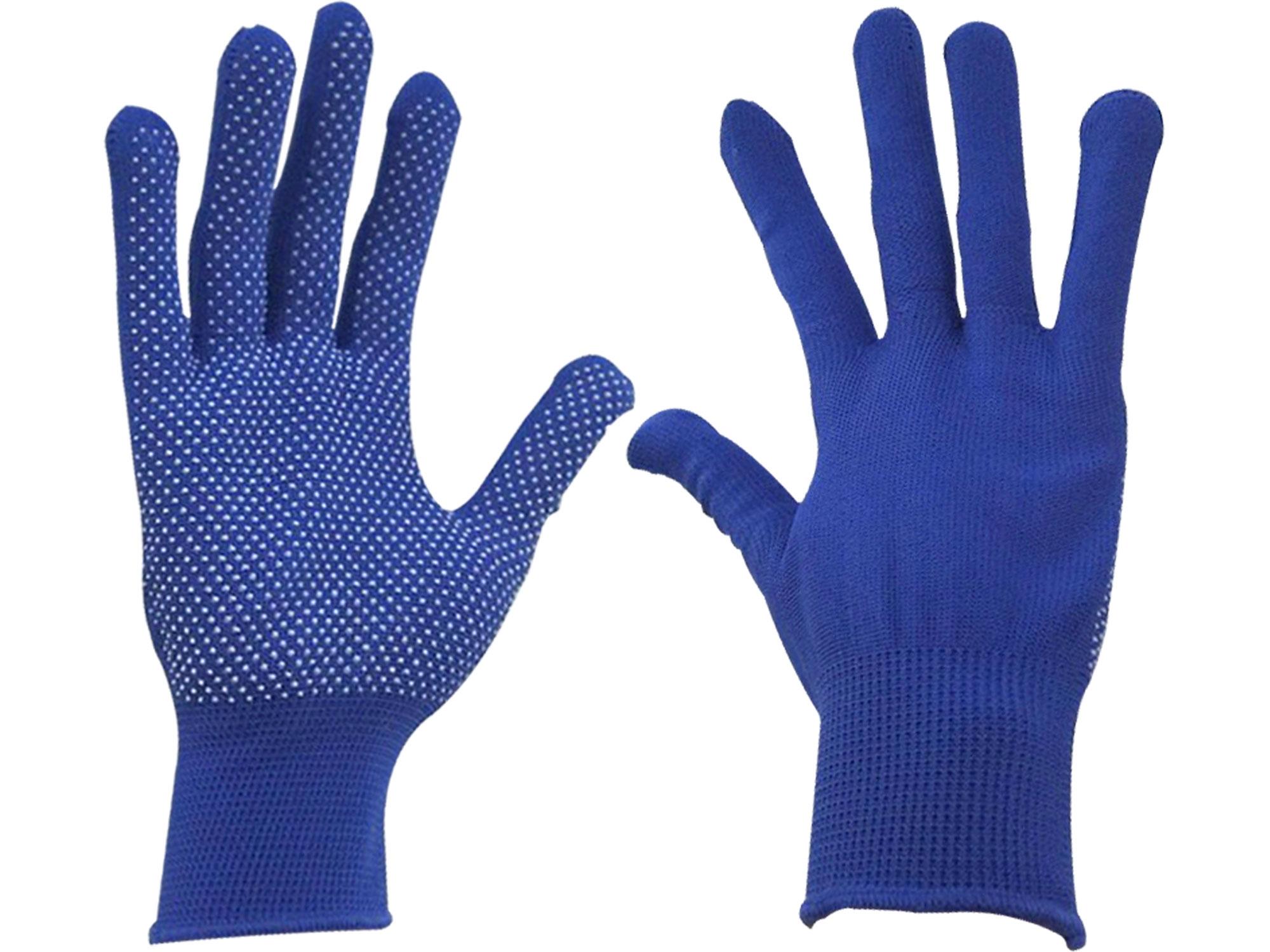 """rukavice z polyesteru s PVC terčíky na dlani, velikost 8"""", EXTOL CRAFT 99713"""