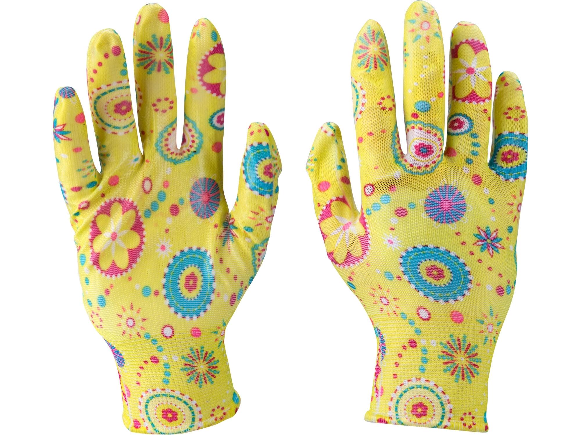 """rukavice zahradní nylonové polomáčené v nitrilu, velikost 8"""""""