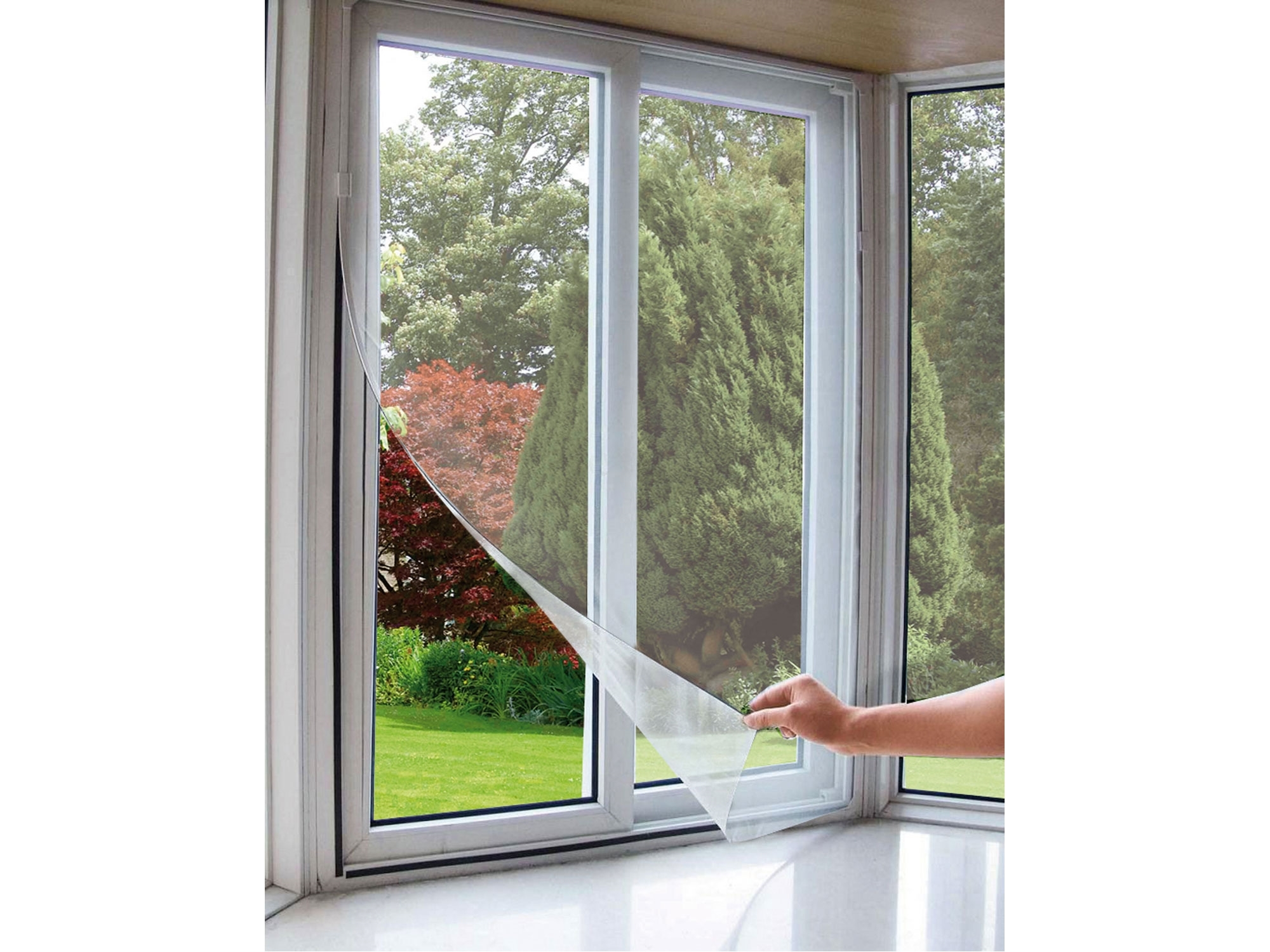 síť okenní proti hmyzu, 130x150cm, bílá, PES
