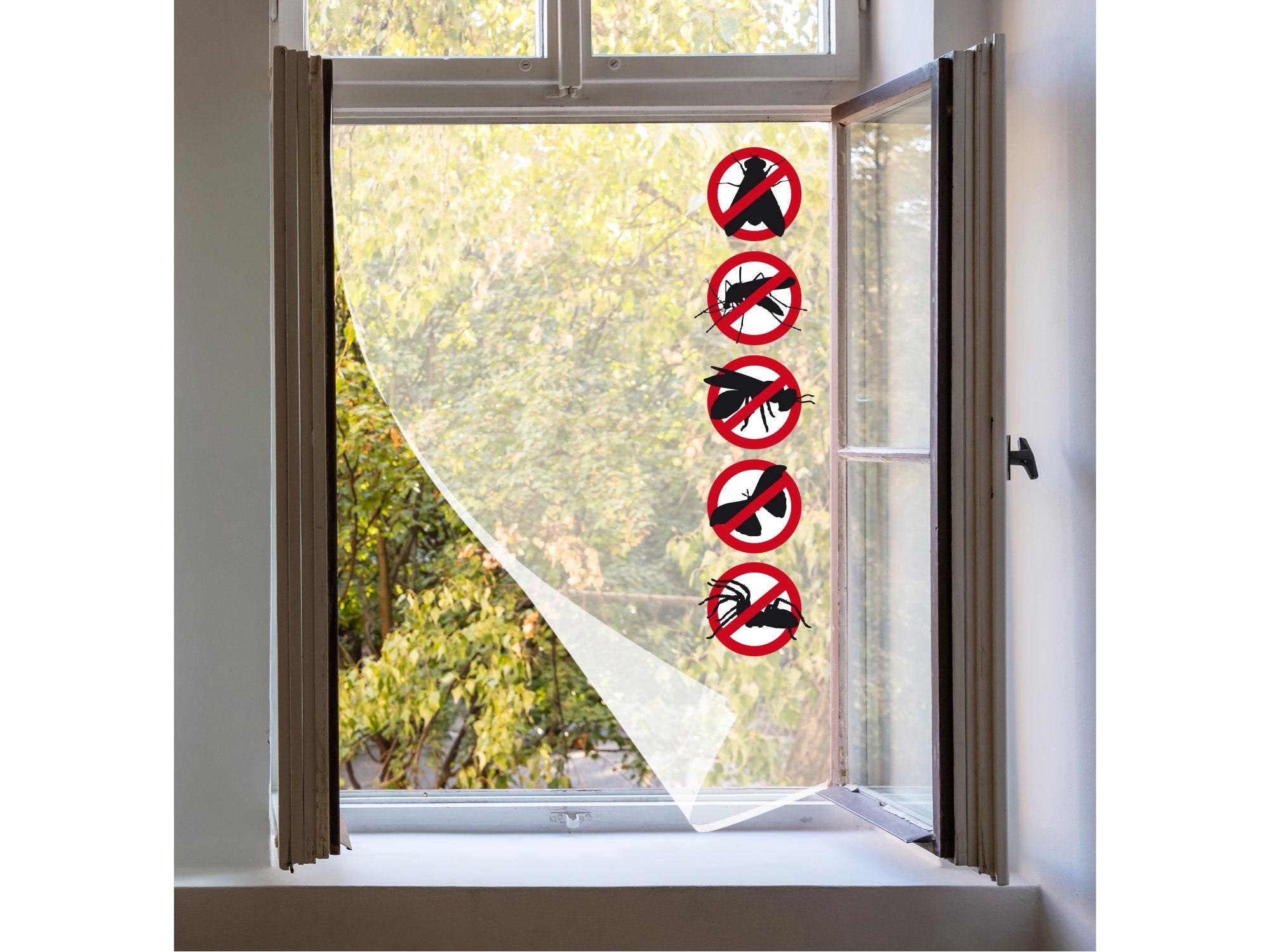 síť okenní proti hmyzu, 90x150cm, bílá, PES