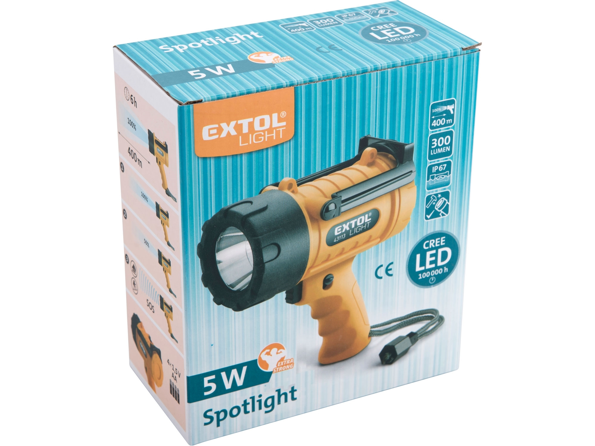 Svítilna 5W CREE XPG LED vodotěsná