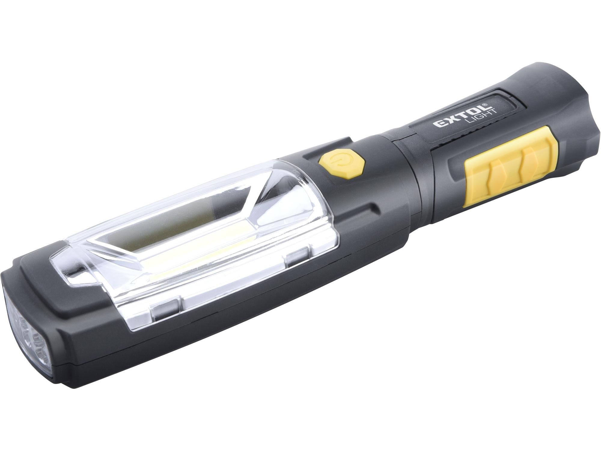 svítilna kloubová 280lm COB LED, 3W COB LED, 6x30lm LED