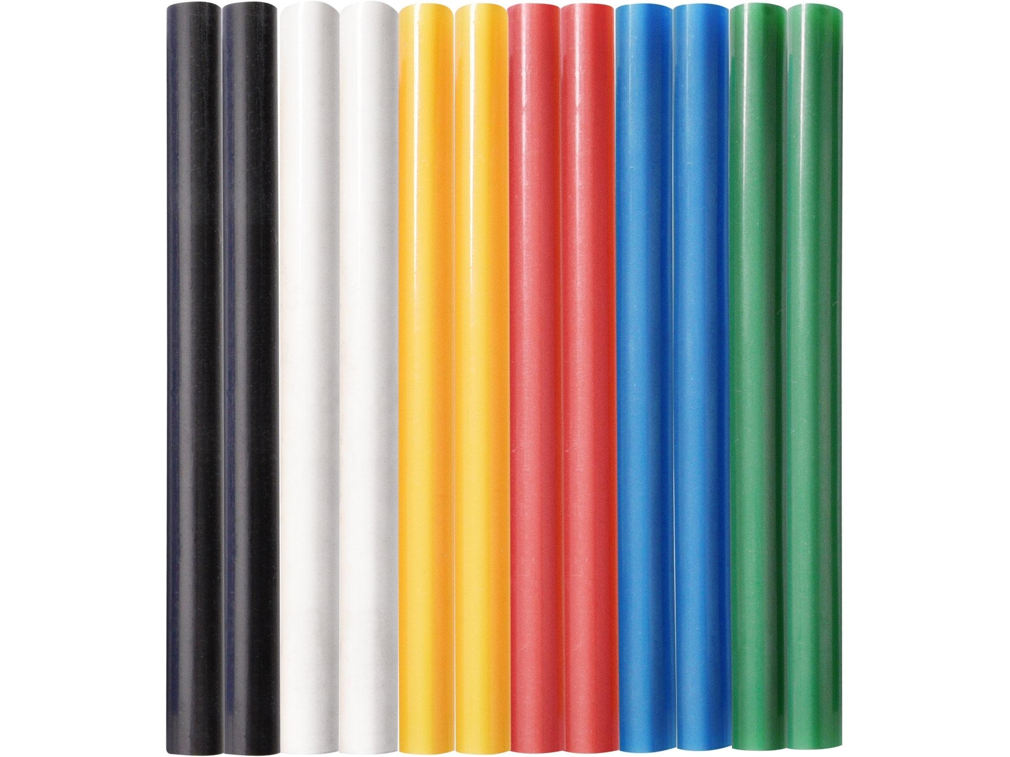 tyčinky tavné, mix barev, pr.7,2x100mm, 12ks 9908