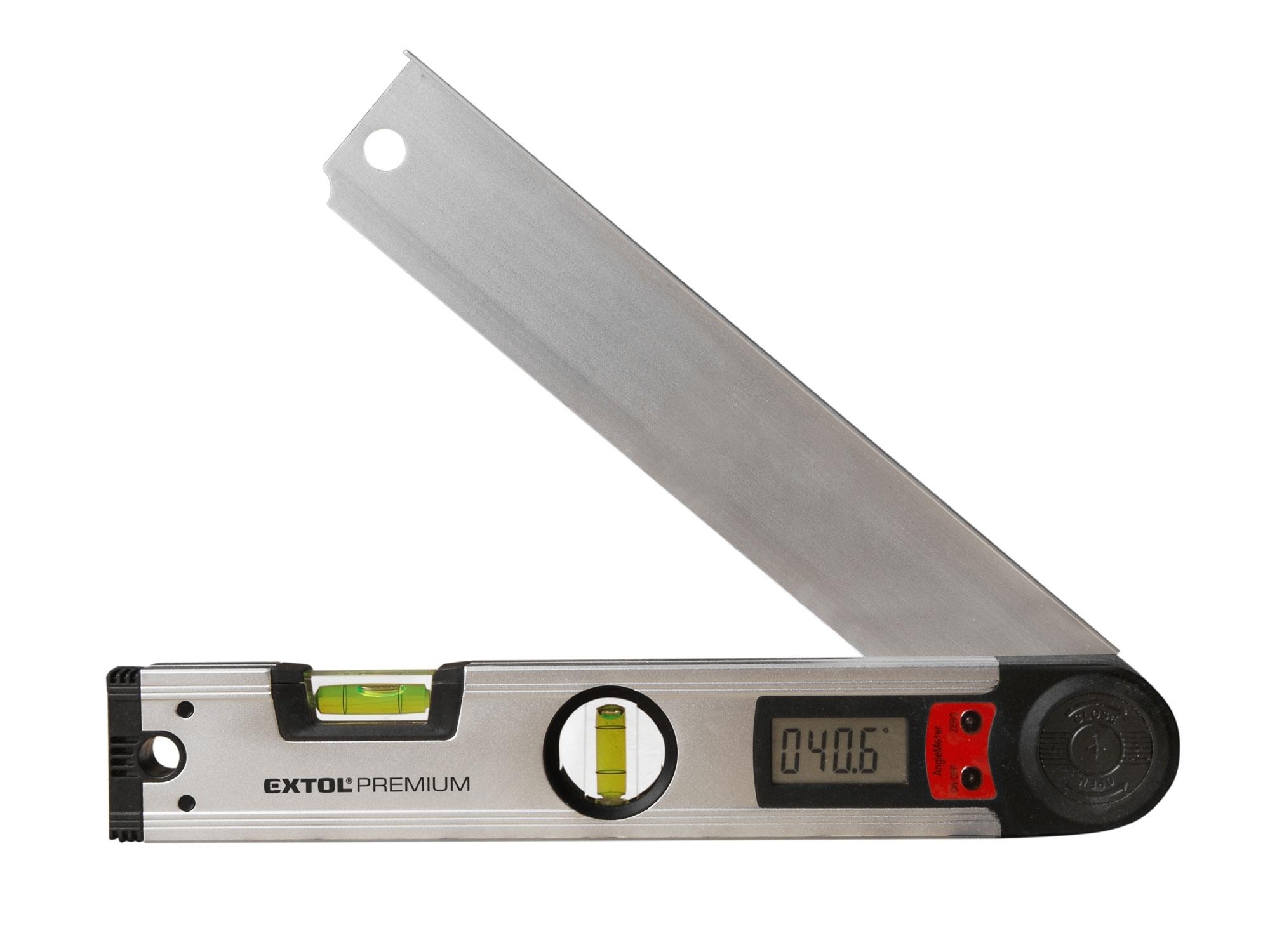 vodováha s digitálním úhloměrem, 305mm, EXTOL PREMIUM 8823501