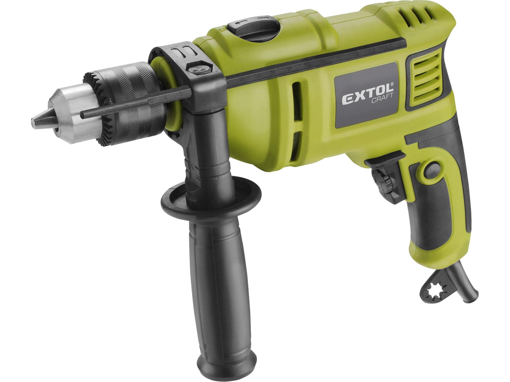 Vrtačka s příklepem 750W, EXTOL Craft 401182