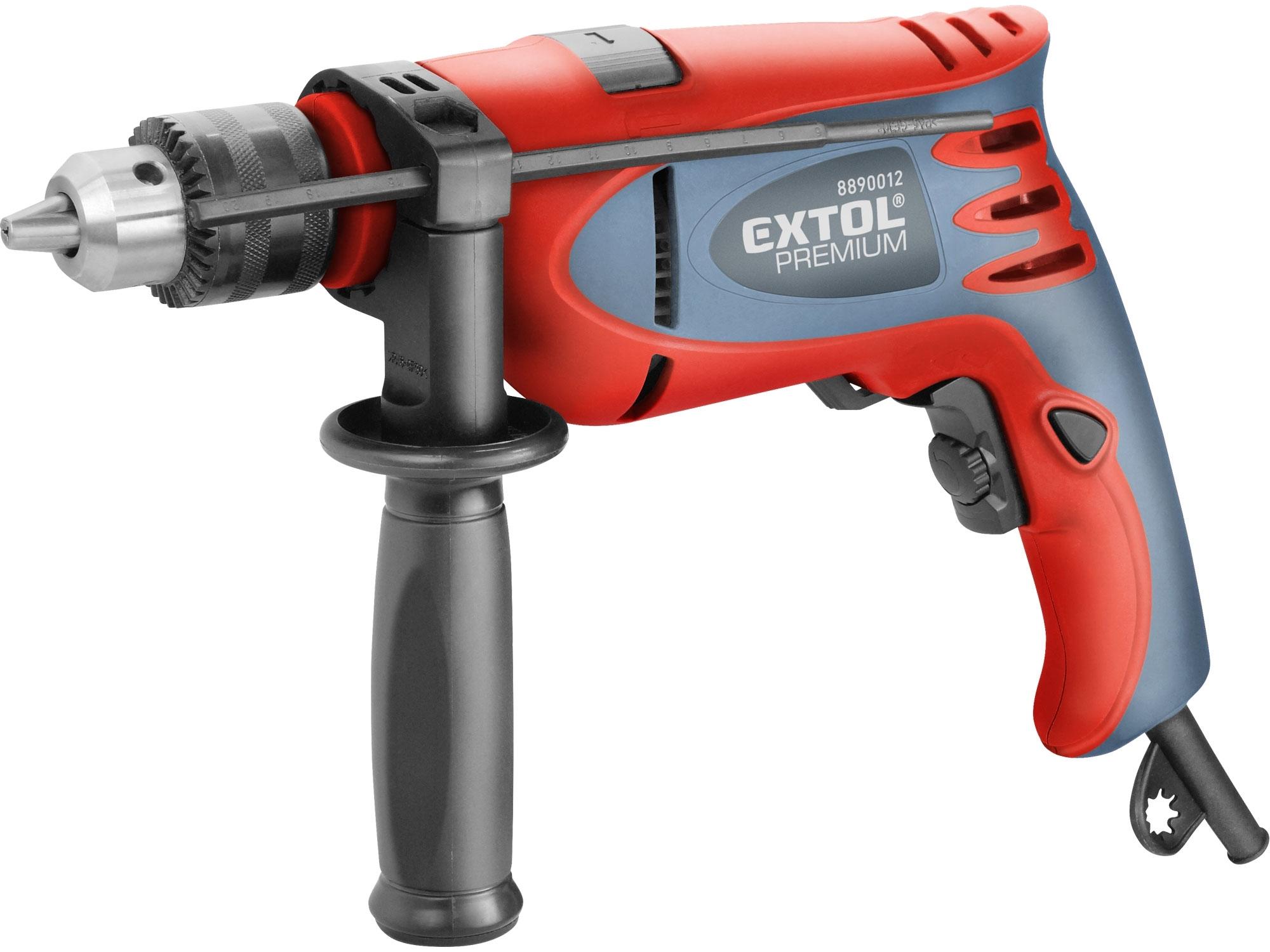 Vrtačka s příklepem 750W, EXTOL Premium HD 750 CA 8890012