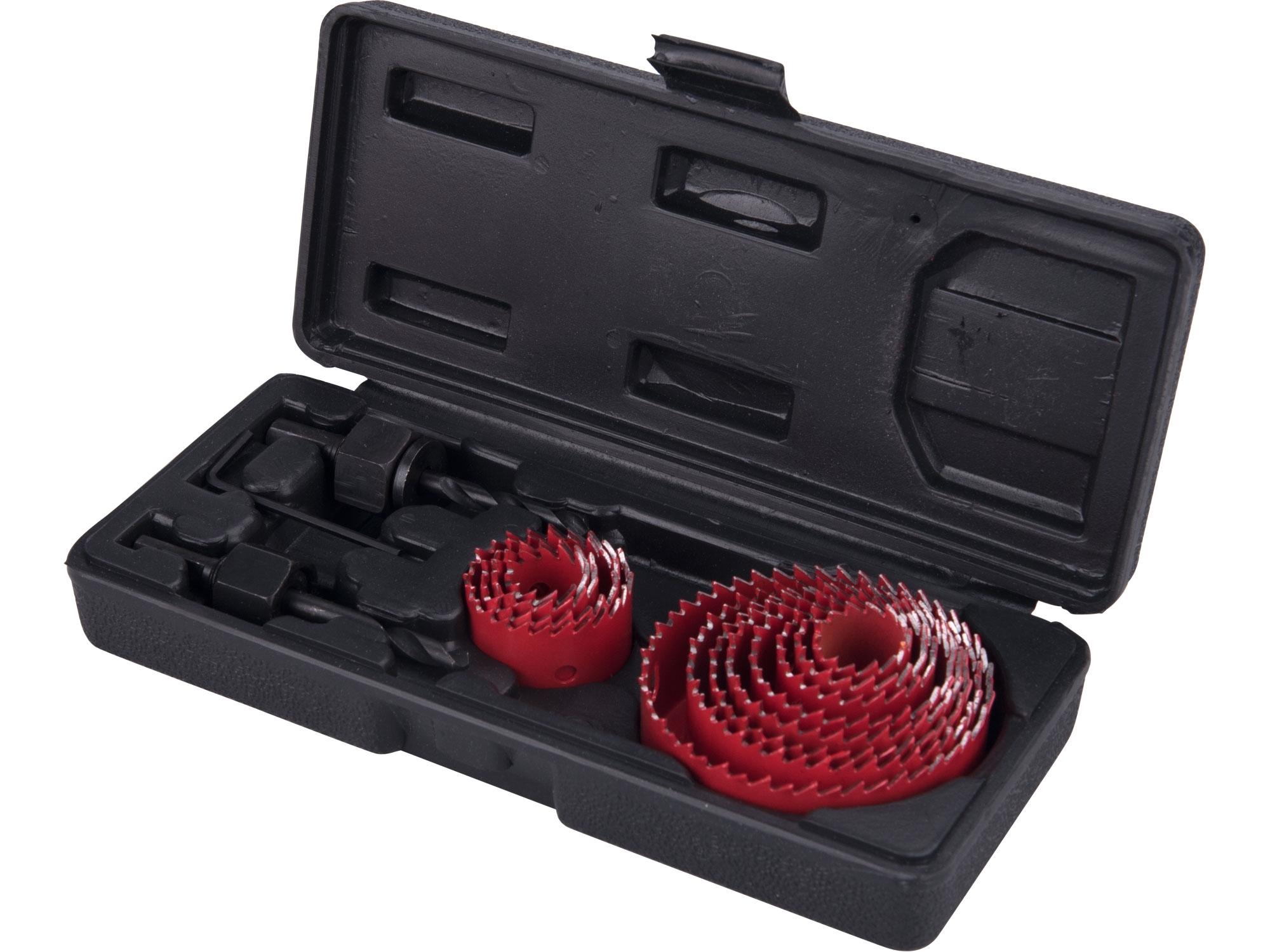 vrtáky vykružovací korunkové, 12průměrů ∅19-76mm, EXTOL PREMIUM 8801606