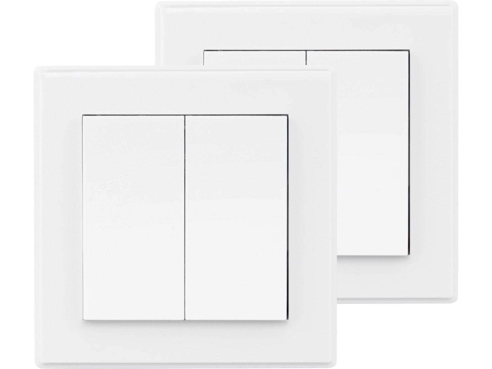 vypínač/ovladač, dvojitý, 2ks, 2jednotlivé/skupinové kanály, EXTOL LIGHT 43822
