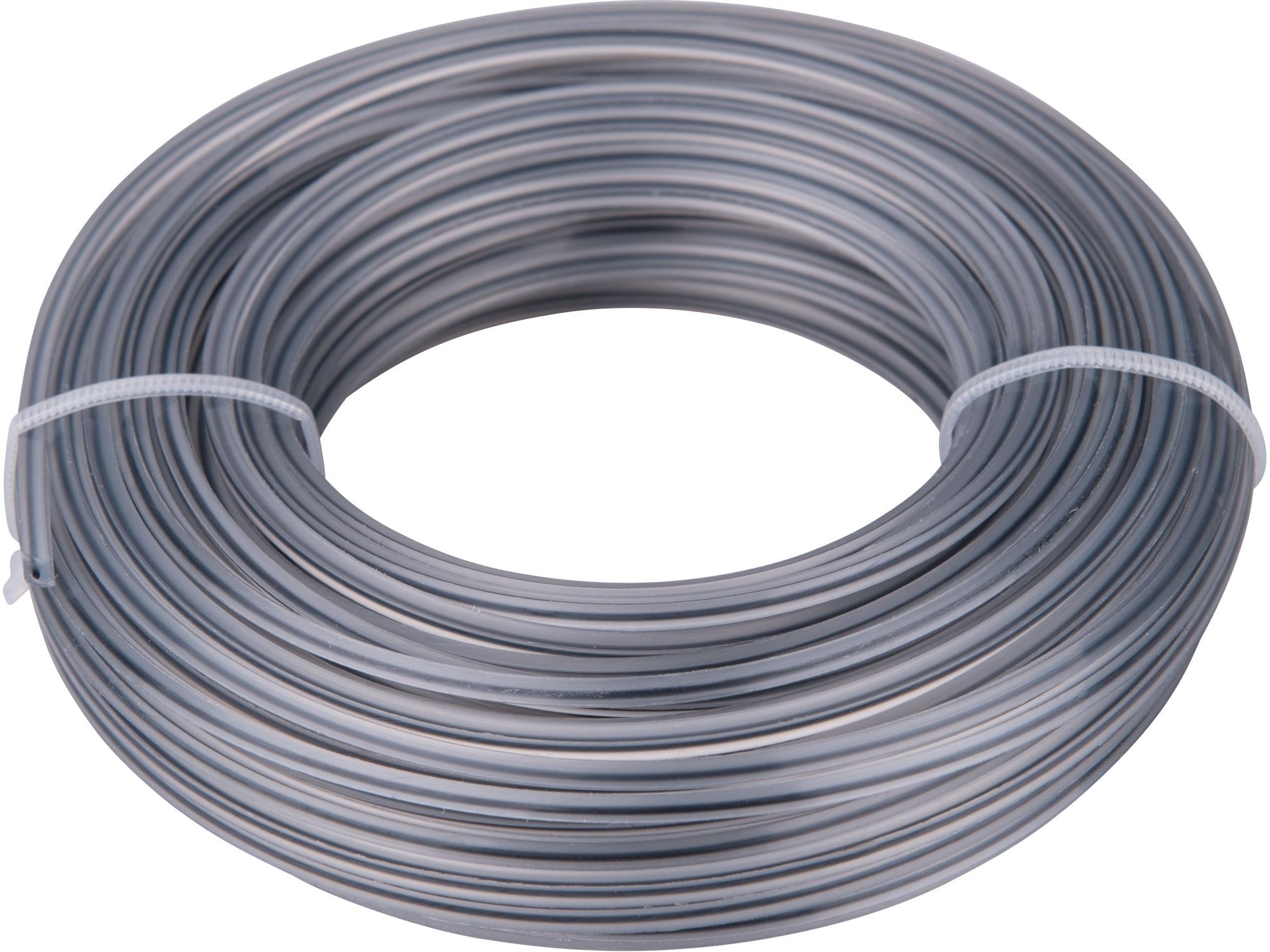 žací struna do sekačky s jádrem, čtvercový profil, 2,4mm, 15m, PA66