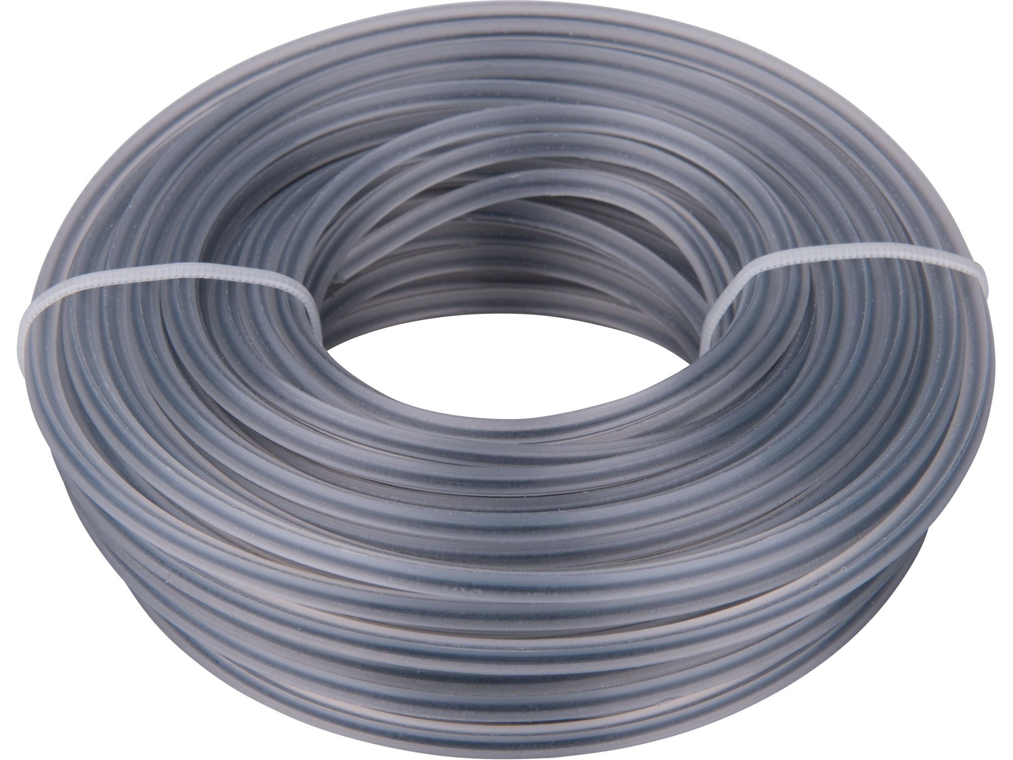 žací struna do sekačky s jádrem, čtvercový profil, 3,0mm, 15m, PA66