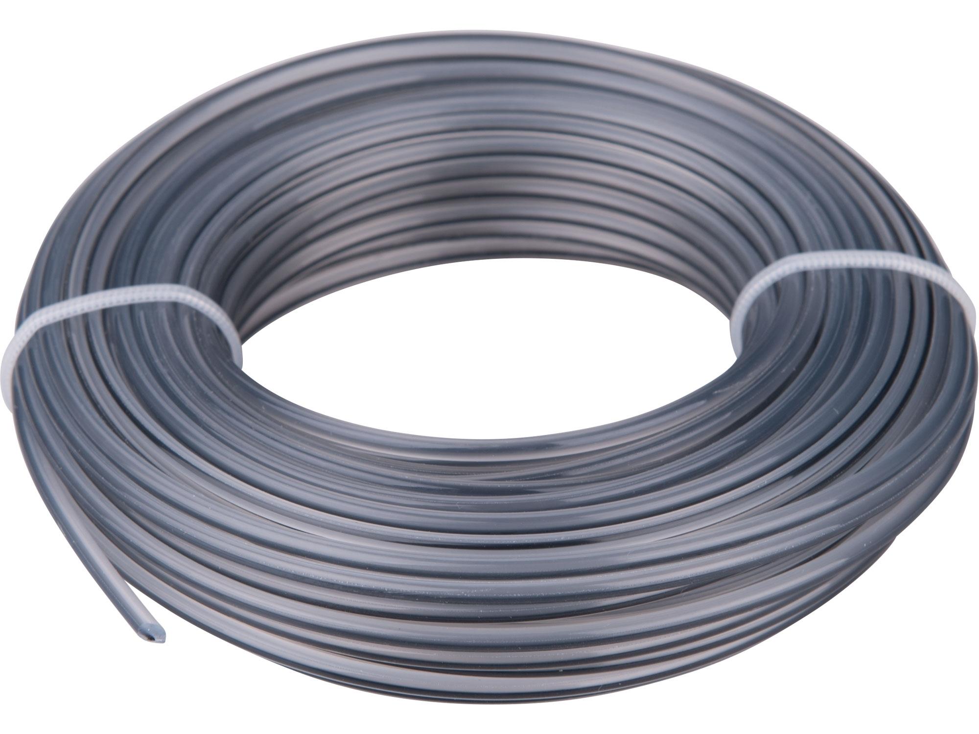 žací struna do sekačky s jádrem, kruhový profil, 2,4mm, 15m, PA66
