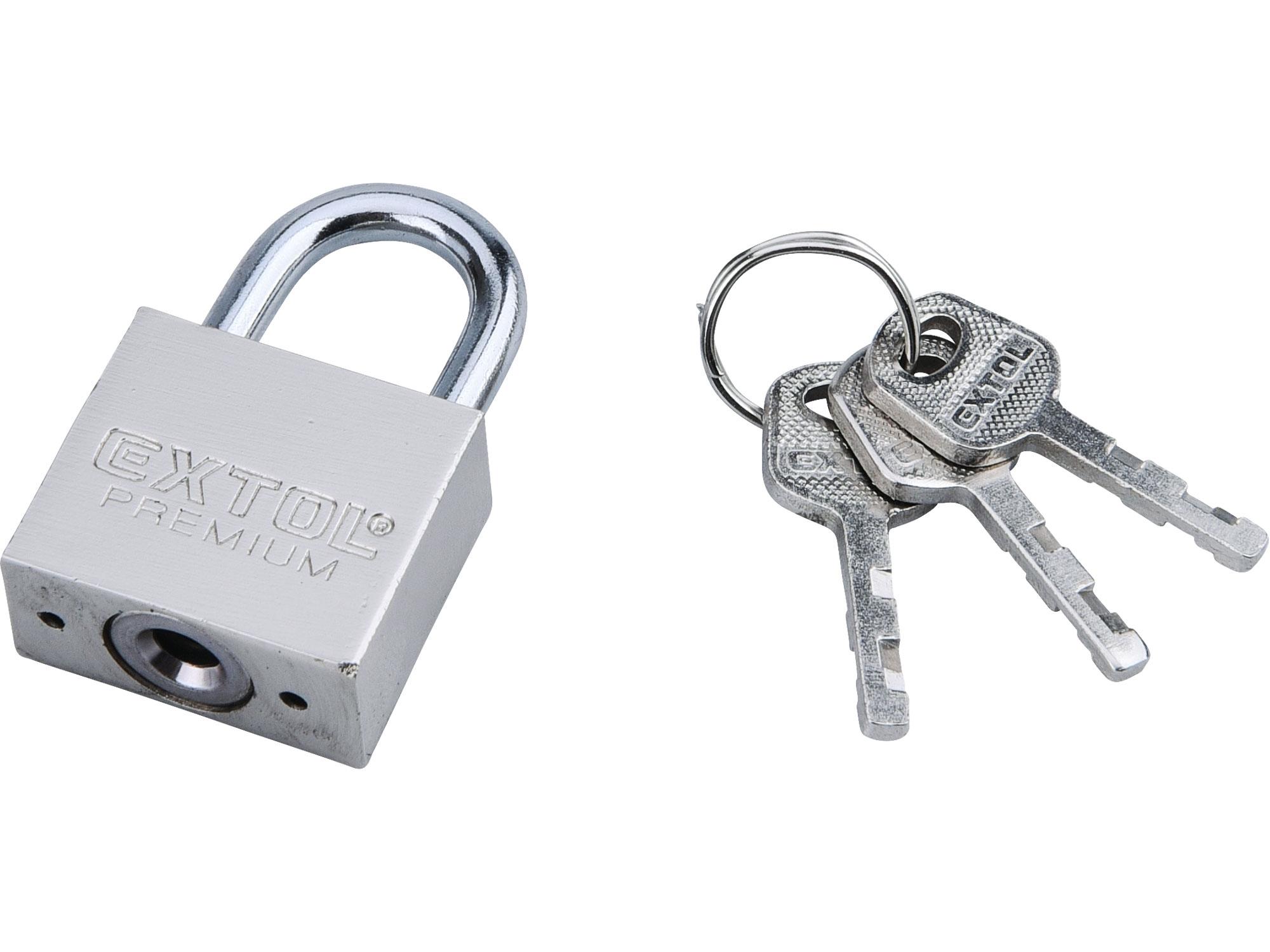 zámek visací kovový, 30mm, EXTOL PREMIUM 8857403