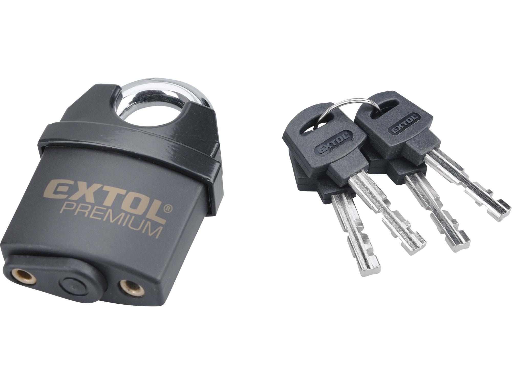 zámek visací bezpečnostní, voděodolný, 50mm, EXTOL PREMIUM 8857750