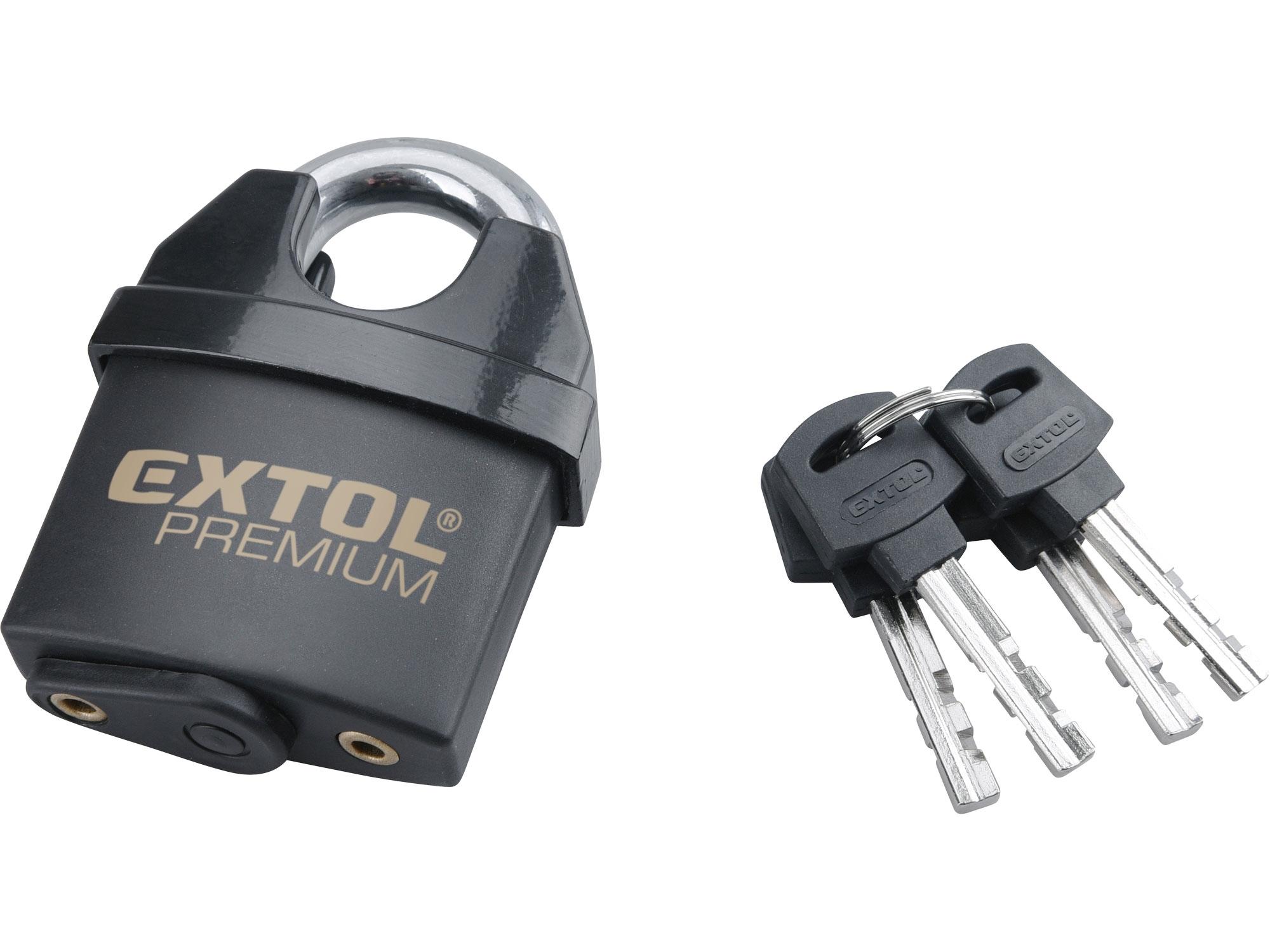 zámek visací bezpečnostní, voděodolný, 60mm, EXTOL PREMIUM 8857760