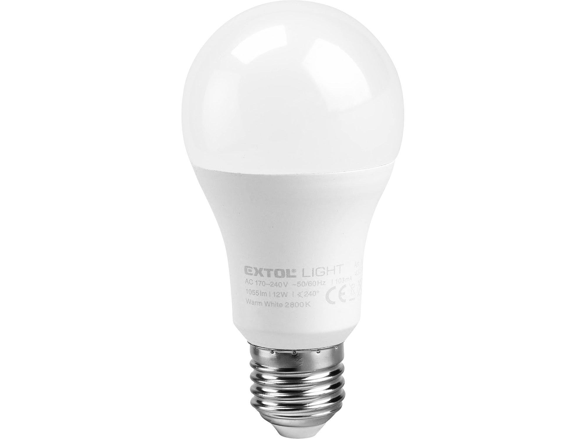 žárovka LED klasická, 9W, 800lm, E27, teplá bílá