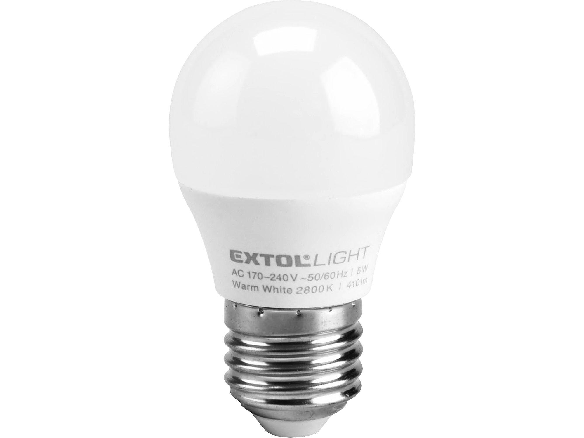 žárovka LED mini, 5W, 410lm, E27, teplá bílá