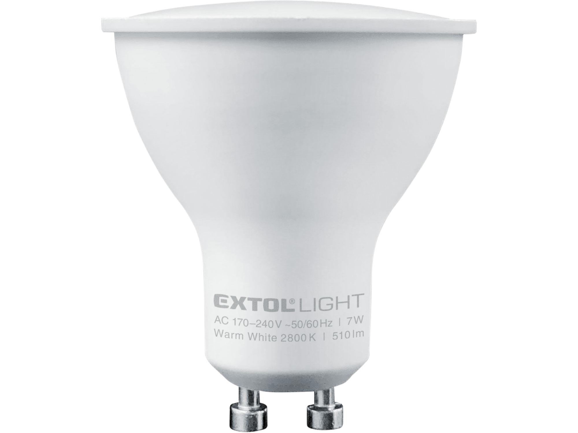 žárovka LED reflektorová, 7W, 510lm, GU10, teplá bílá