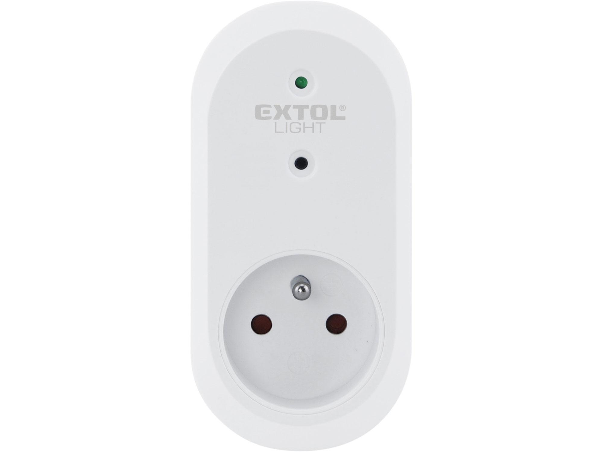 zásuvka na dálkové ovládání, 2ks, dosah 30m, EXTOL LIGHT 43802